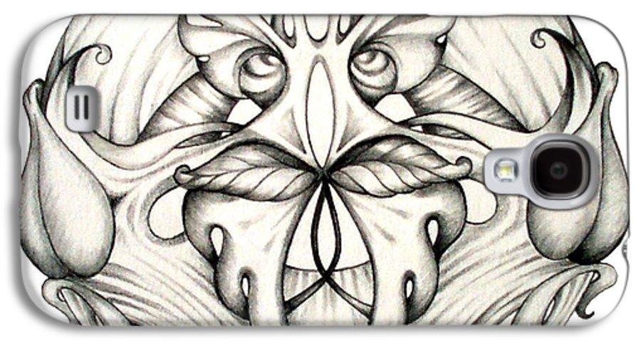 Mandala Galaxy S4 Case featuring the drawing Awakening by Shadia Derbyshire