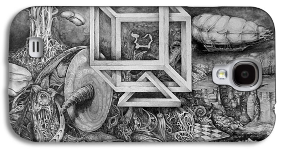 Drawing Galaxy S4 Case featuring the drawing Axis Mundi by Otto Rapp
