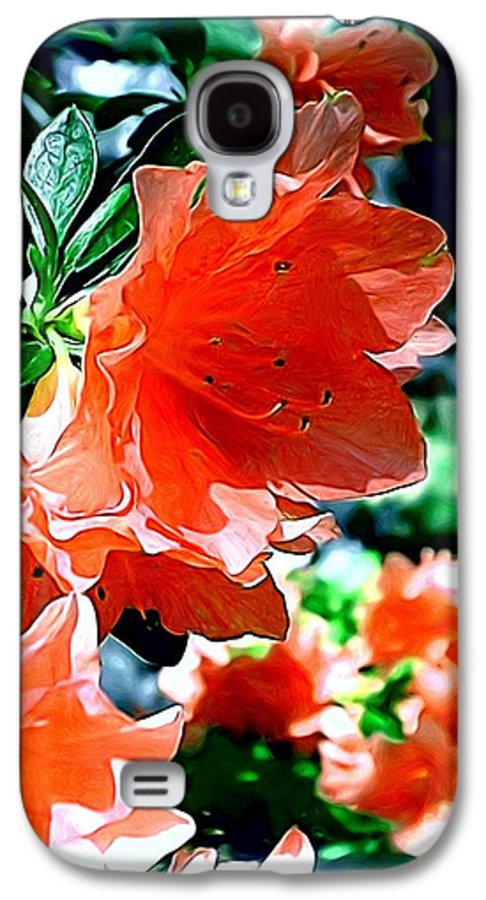 Fine Art Galaxy S4 Case featuring the painting Azaleas In The Spring by Patricia Griffin Brett