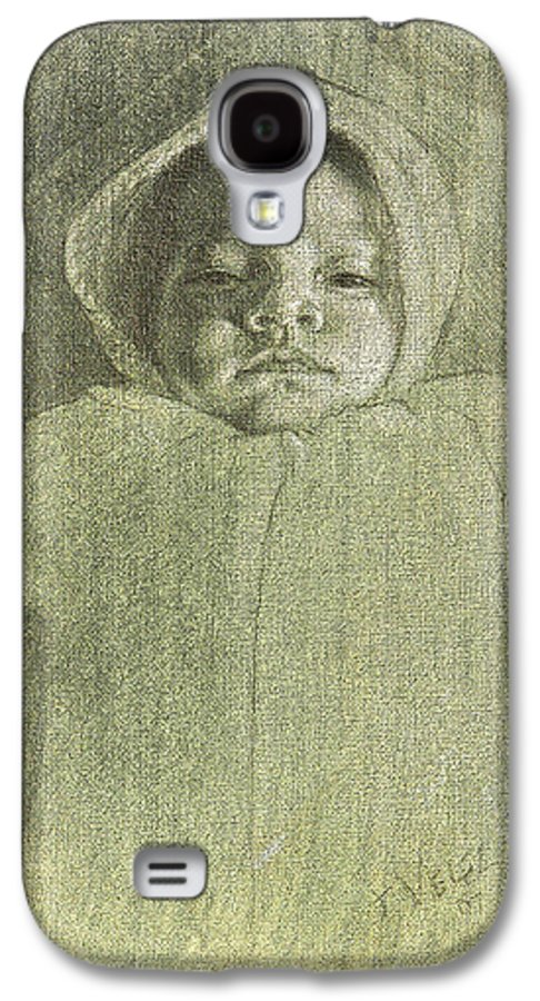 Galaxy S4 Case featuring the painting Baby Self Portrait by Joe Velez