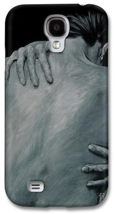 Nude Galaxy S4 Case featuring the painting Back Of Naked Woman by Jindra Noewi