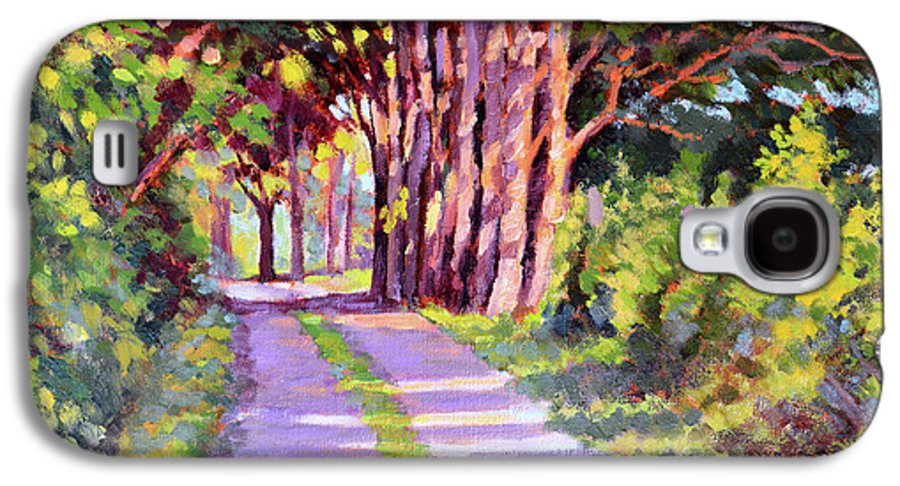 Road Galaxy S4 Case featuring the painting Backroad Canopy by Keith Burgess