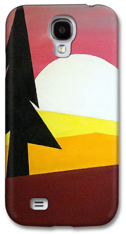Phases Of The Moon Galaxy S4 Case featuring the painting Bad Moon Rising by J R Seymour