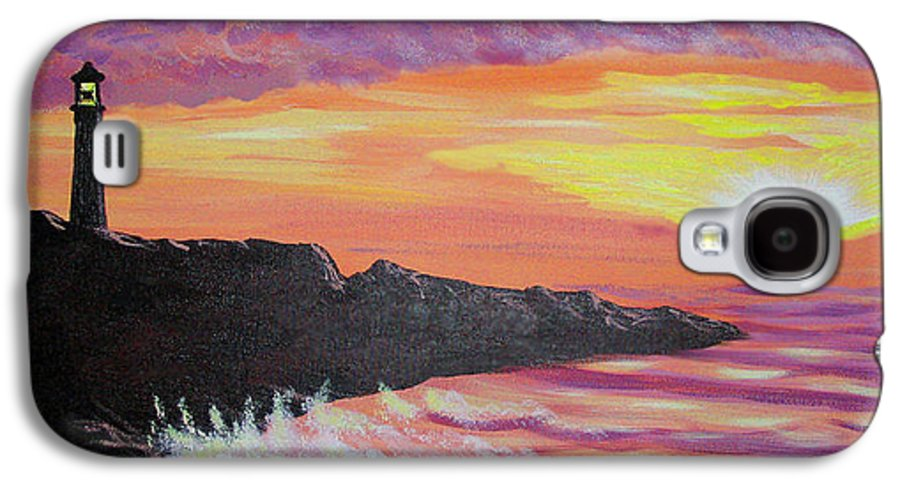 Seascape Galaxy S4 Case featuring the painting Bahia At Sunset by Marco Morales