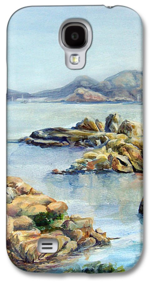 Landscape Galaxy S4 Case featuring the painting Baie by Muriel Dolemieux