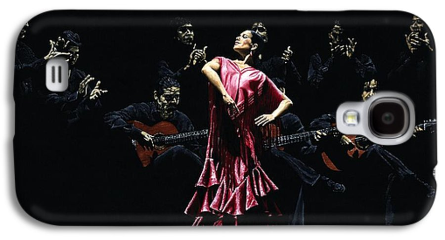 Flamenco Galaxy S4 Case featuring the painting Bailarina Orgullosa Del Flamenco by Richard Young
