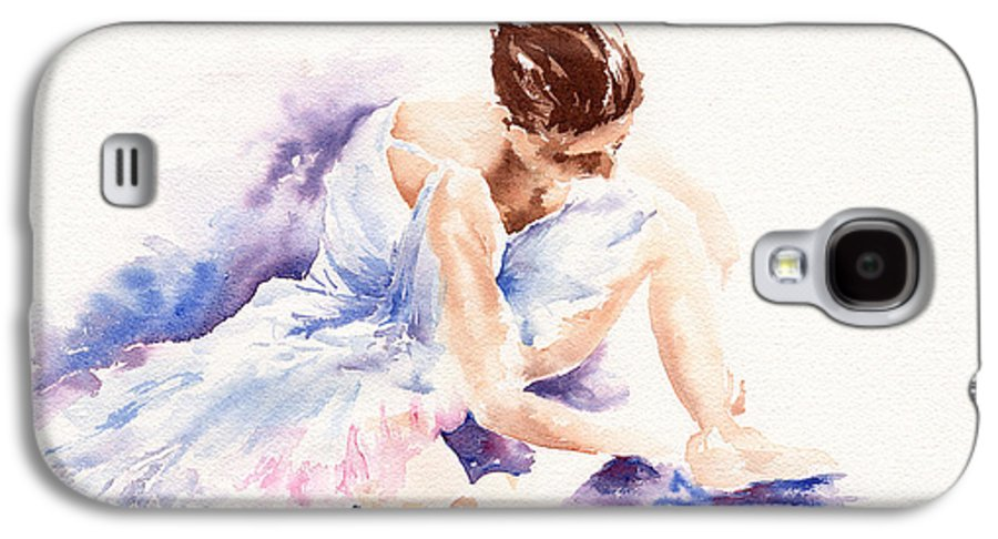 Ballerina Galaxy S4 Case featuring the painting Ballerina by Stephie Butler