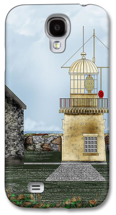 Lighthouse Galaxy S4 Case featuring the painting Ballinacourty Lighthouse At Waterford Ireland by Anne Norskog