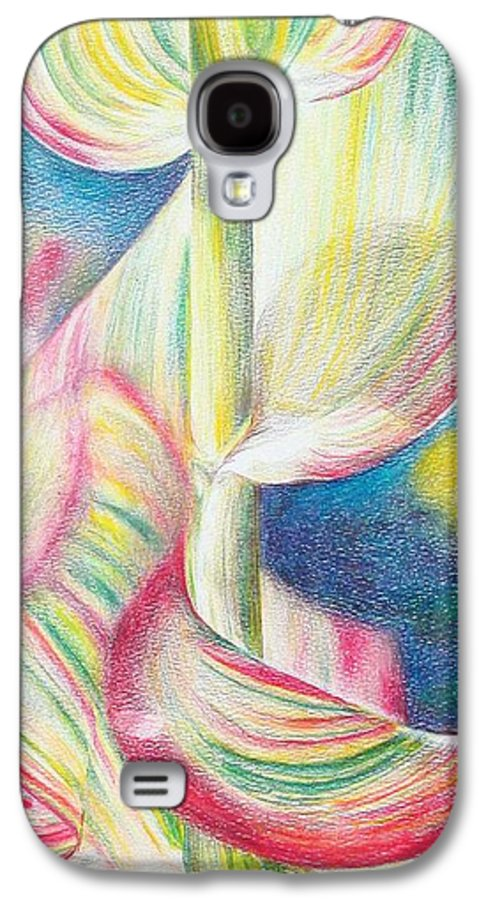 Flower Galaxy S4 Case featuring the painting Bambou by Muriel Dolemieux