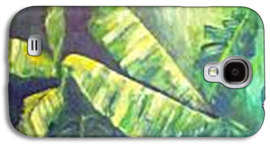 Banana Leaf Galaxy S4 Case featuring the painting Banan Leaf by Carol P Kingsley