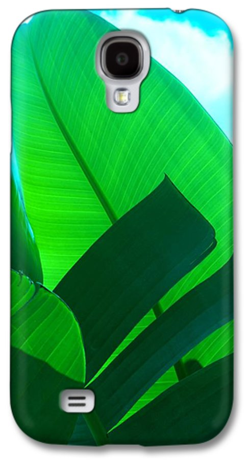 Botanical Galaxy S4 Case featuring the photograph Banana Aqua by Florene Welebny