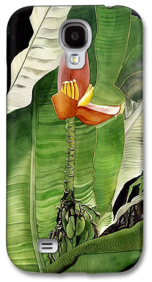 Flower Galaxy S4 Case featuring the painting Banana Blossom by Alfred Ng