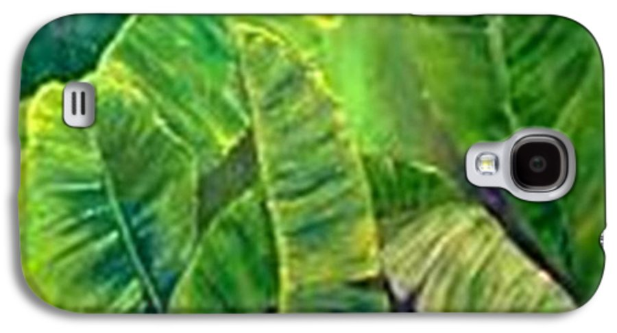 Galaxy S4 Case featuring the painting Banana Leaves by Carol P Kingsley