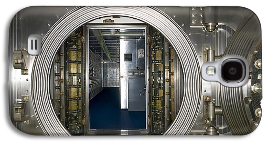Architectural Galaxy S4 Case featuring the photograph Bank Vault Interior by Adam Crowley