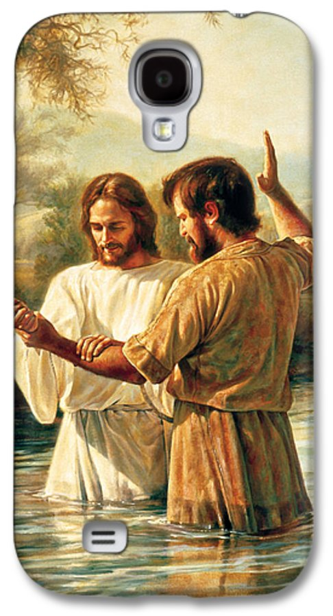 Jesus Galaxy S4 Case featuring the painting Baptism Of Christ by Greg Olsen