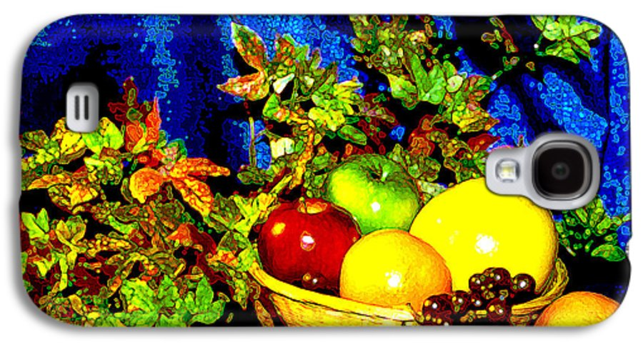 Fruit Galaxy S4 Case featuring the photograph Basket With Fruit by Nancy Mueller