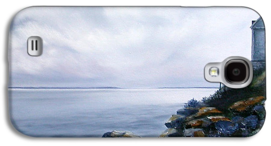 Ocean Galaxy S4 Case featuring the painting Bass Harbor Maine by Brenda Ellis Sauro