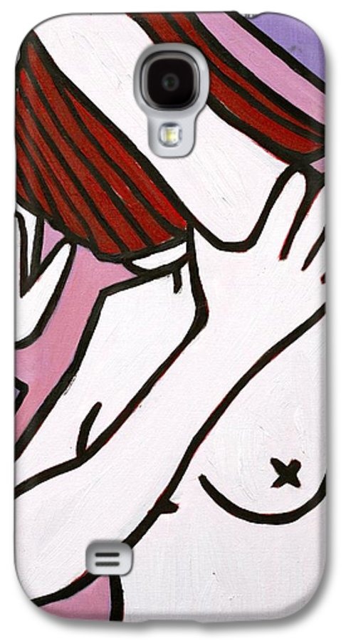 Nude Galaxy S4 Case featuring the painting Bather by Thomas Valentine