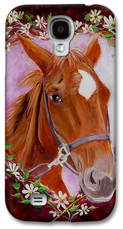 Horse Galaxy S4 Case featuring the painting Batuque by Quwatha Valentine
