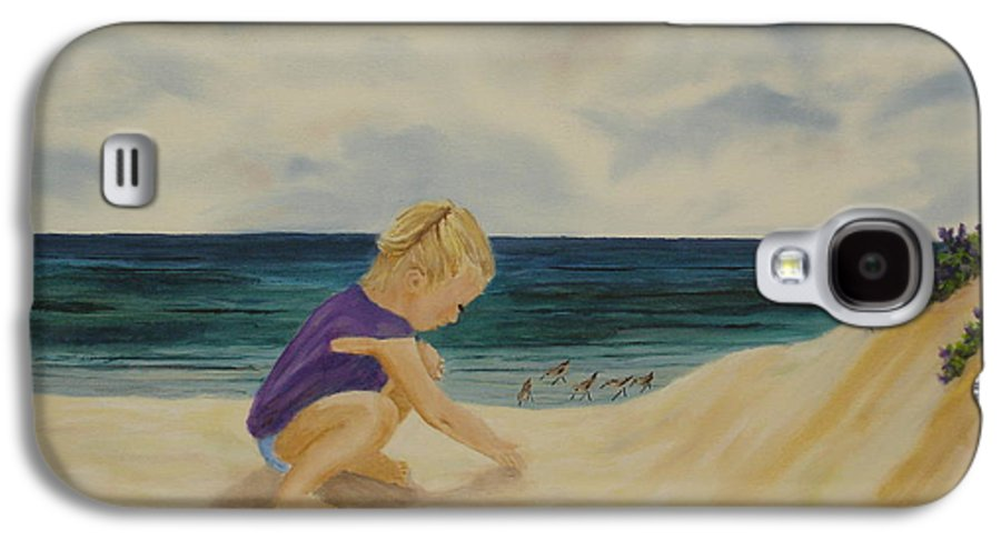 Child Galaxy S4 Case featuring the painting Beachcomber by Susan Kubes