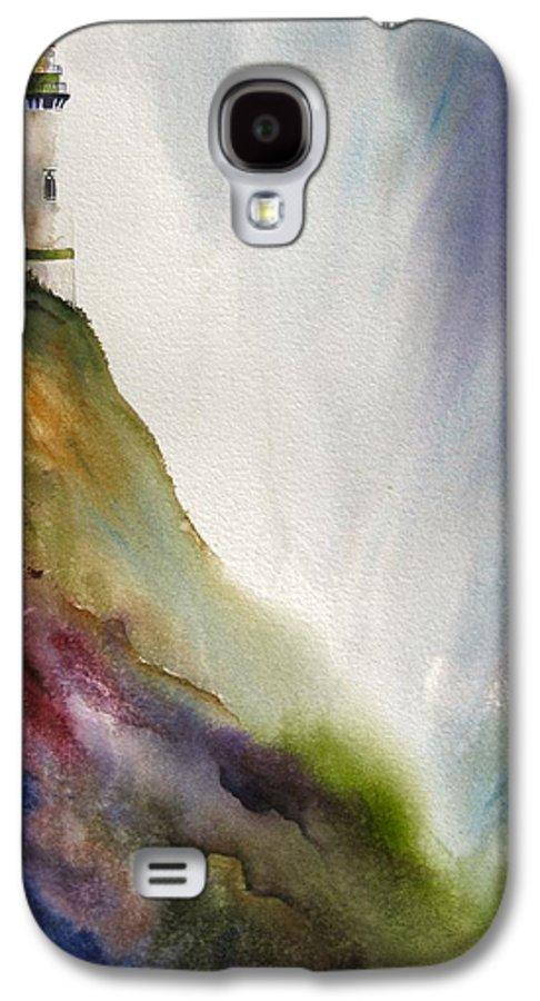 Lighthouse Galaxy S4 Case featuring the painting Beacon by Karen Stark
