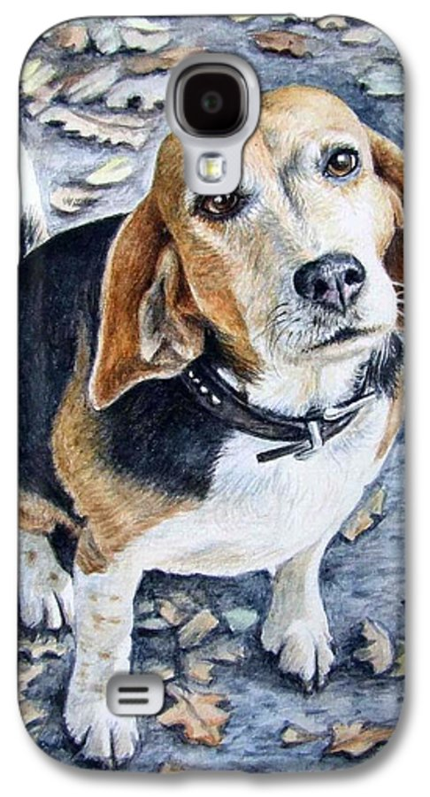 Dog Galaxy S4 Case featuring the painting Beagle Nanni by Nicole Zeug