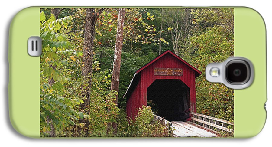 Covered Bridge Galaxy S4 Case featuring the photograph Bean Blossom Bridge I by Margie Wildblood