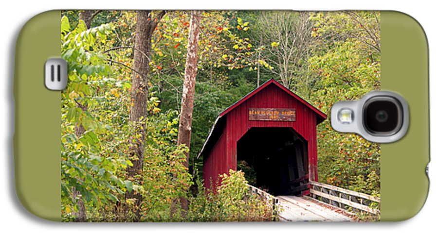 Covered Bridge Galaxy S4 Case featuring the photograph Bean Blossom Bridge II by Margie Wildblood