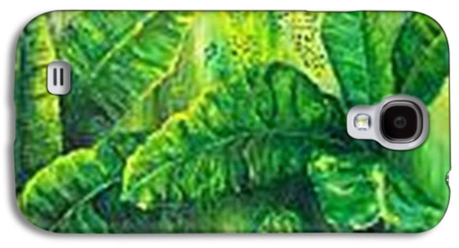 Galaxy S4 Case featuring the painting Beautiful Banana Leaves by Carol P Kingsley