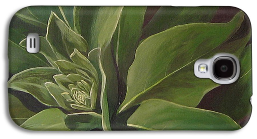 Closeup Of Mullein Plant Galaxy S4 Case featuring the painting Beautiful Stranger by Hunter Jay