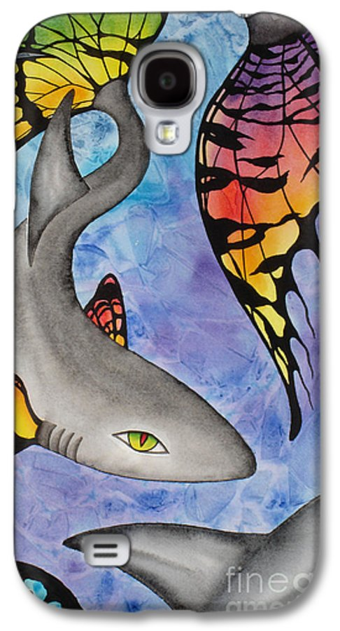 Surreal Galaxy S4 Case featuring the painting Beauty In The Beasts by Lucy Arnold