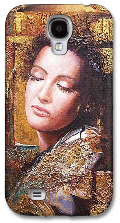 Female Portrait Galaxy S4 Case featuring the painting Because You Are Beautiful by Sinisa Saratlic