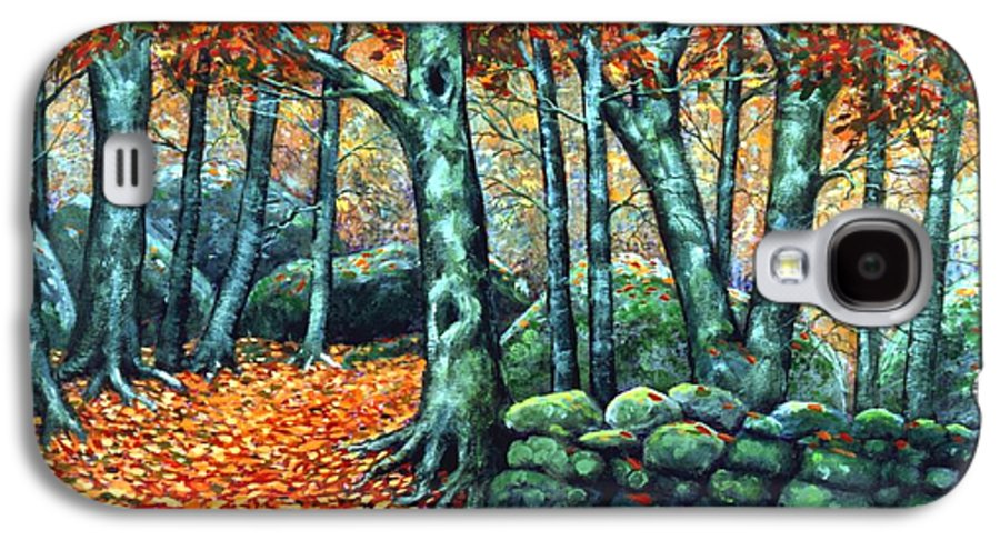 Landscape Galaxy S4 Case featuring the painting Beech Woods by Frank Wilson