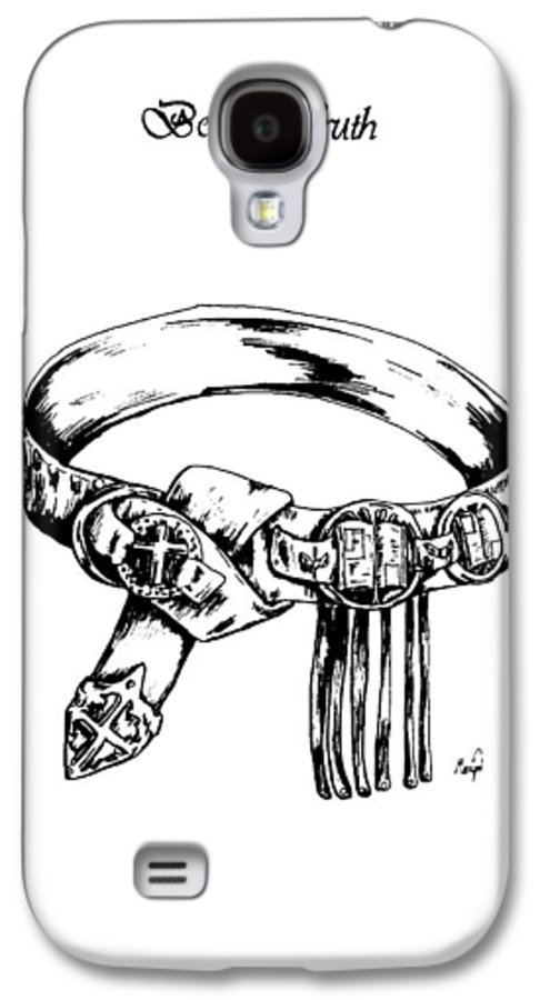 Bible Galaxy S4 Case featuring the drawing Belt Of Truth by Maryn Crawford