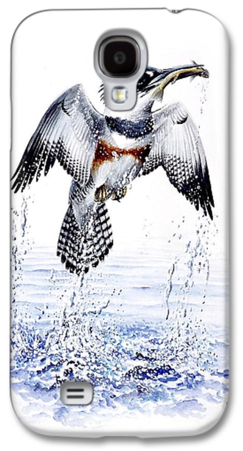 Chris Cox Galaxy S4 Case featuring the painting Belted Kingfisher by Christopher Cox
