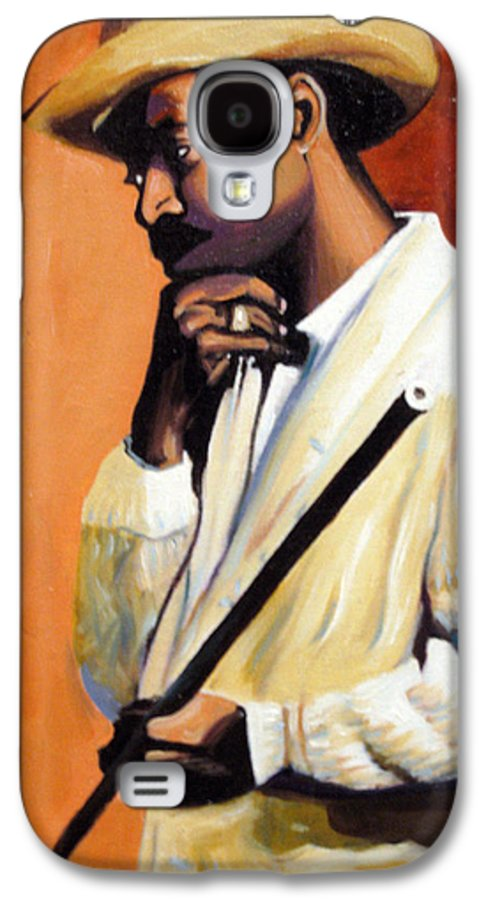 Cuban Art Galaxy S4 Case featuring the painting Benny 2 by Jose Manuel Abraham