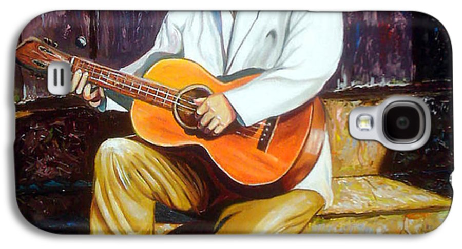 Cuban Art Galaxy S4 Case featuring the painting Benny by Jose Manuel Abraham