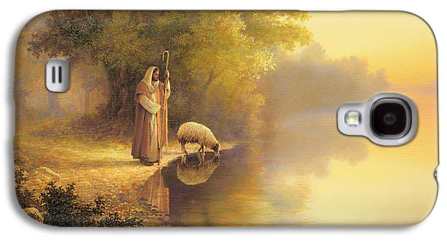 Jesus Galaxy S4 Case featuring the painting Beside Still Waters by Greg Olsen