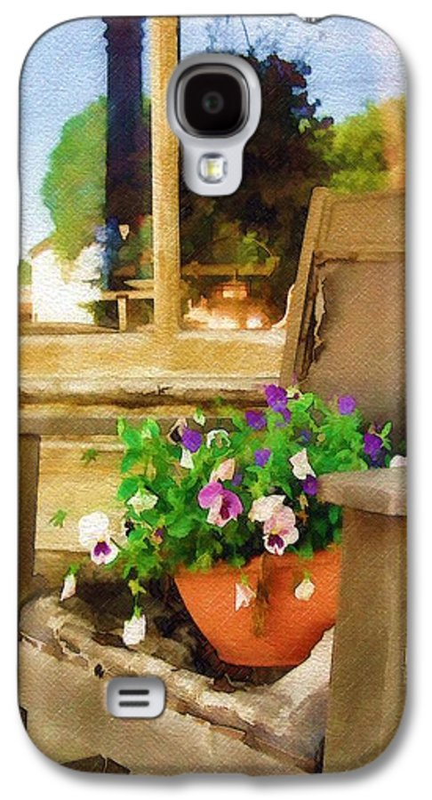 Pansies Galaxy S4 Case featuring the photograph Best Seat In The House by Sandy MacGowan