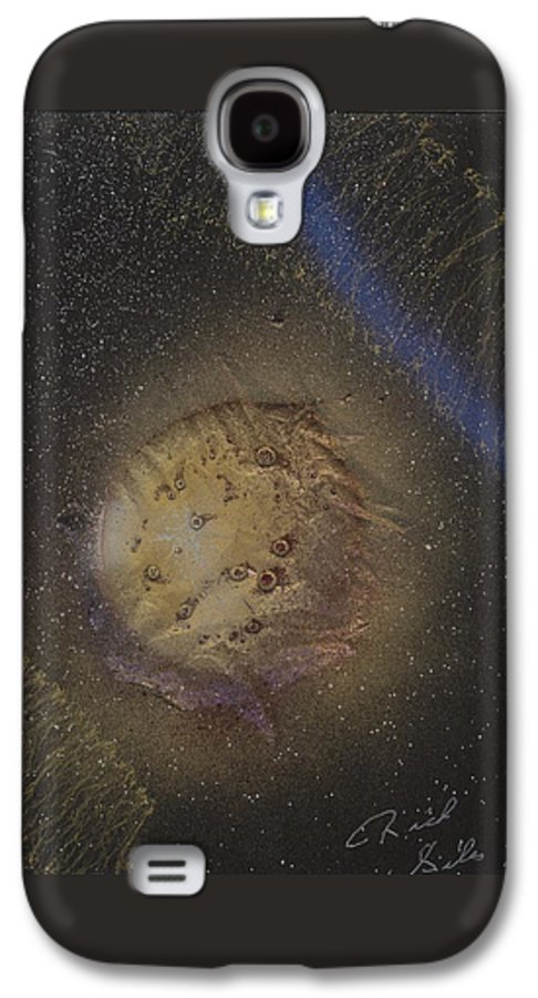 Glass Galaxy S4 Case featuring the painting Beyond by Rick Silas