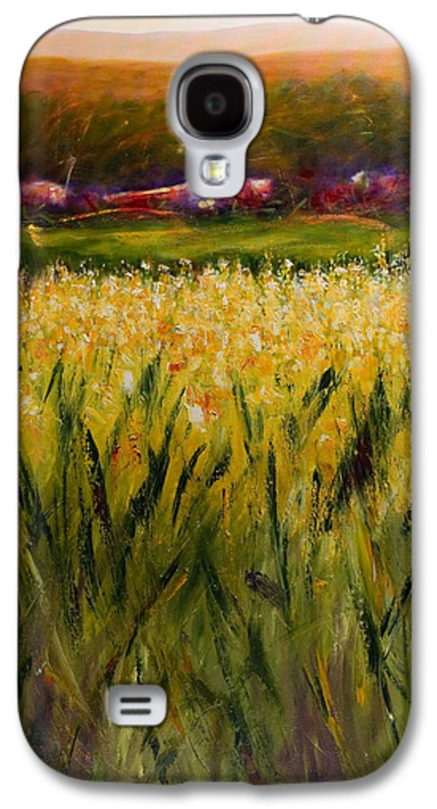 Landscape Galaxy S4 Case featuring the painting Beyond The Valley by Shannon Grissom