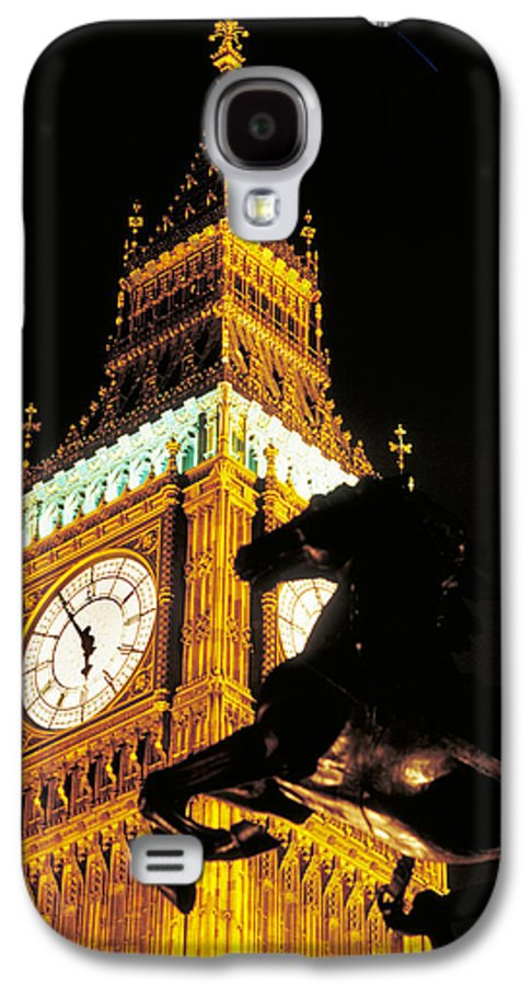 Clock Galaxy S4 Case featuring the photograph Big Ben In London by Carl Purcell