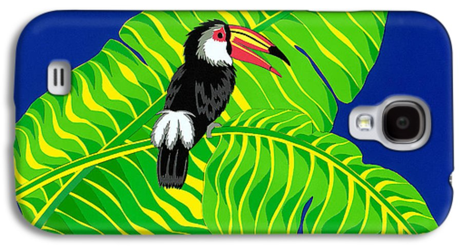 Nature Galaxy S4 Case featuring the drawing Big Billed Bird by Lucyna A M Green