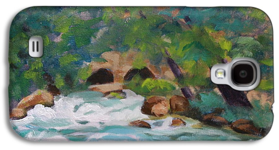 Impressionistic Galaxy S4 Case featuring the painting Big Spring On The Current River by Jan Bennicoff