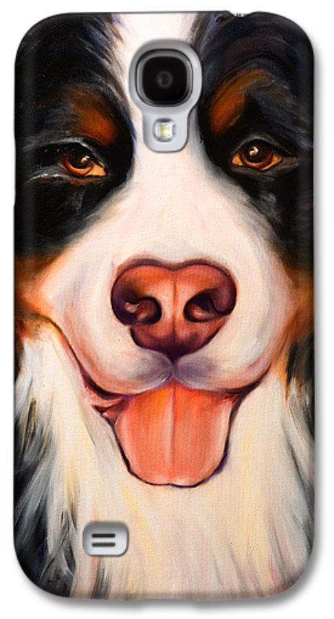 Dog Galaxy S4 Case featuring the painting Big Willie by Shannon Grissom