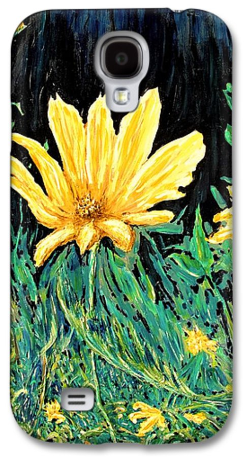 Flower Galaxy S4 Case featuring the painting Big Yellow by Ian MacDonald