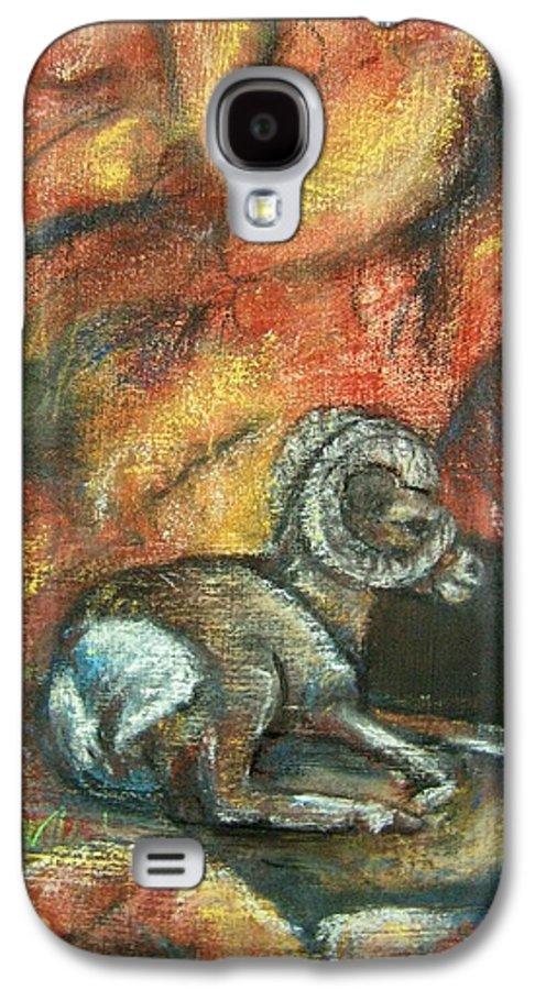 Wildlife Galaxy S4 Case featuring the painting Bighorn by Darla Joy Johnson