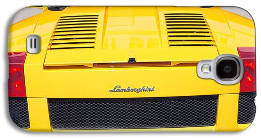 Wheels Galaxy S4 Case featuring the photograph Bill's Lambo by Margaret Fortunato