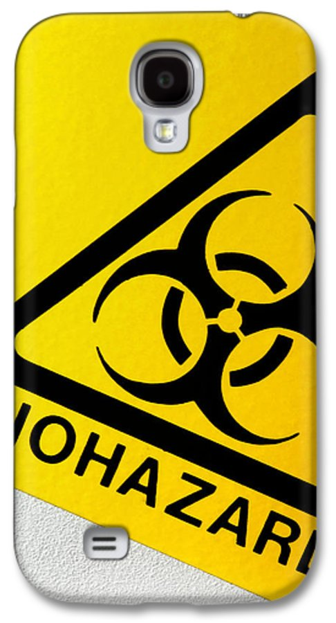 Label Galaxy S4 Case featuring the photograph Biohazard Symbol by Tim Vernon, Nhs Trust
