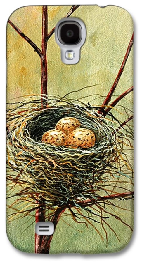Still Life Galaxy S4 Case featuring the painting Bird Nest by Frank Wilson